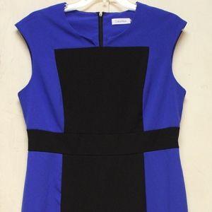 Calvin Klein Blue and Black dress, size: 12